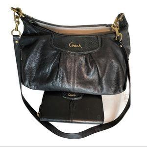 Coach Bundle Ashley Leather Satchel & Zip Wallet